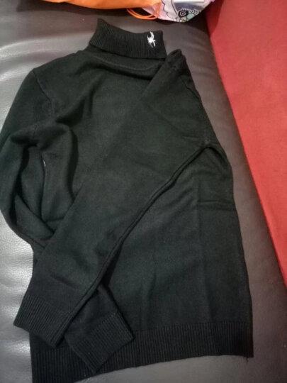 z+dt高领毛衣加绒2017大码男装新款针织衫男韩版套头修身学生上衣加厚打底衫 黑色(M188) L 晒单图