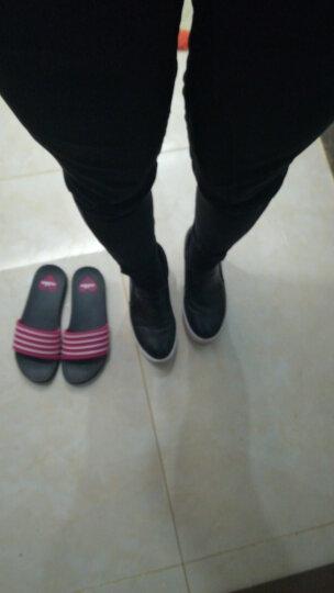 艾梵图女鞋真皮镂空透气休闲鞋套脚女士凉鞋隐形内增高平底乐福鞋 黑 色 37 晒单图