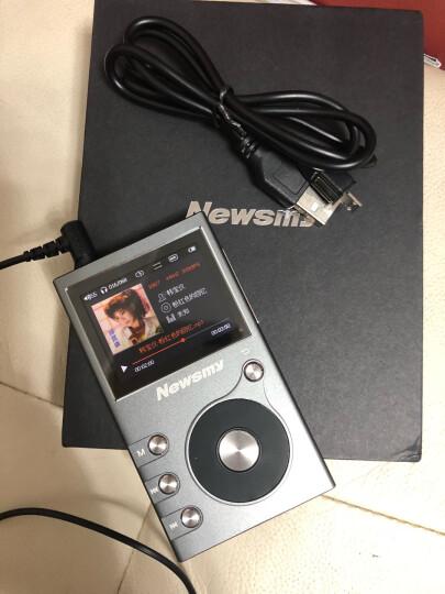纽曼(Newsmy)G6 无损mp3音乐播放器 HIFI发烧DSD插卡有屏随身听 8G  铁灰色 晒单图