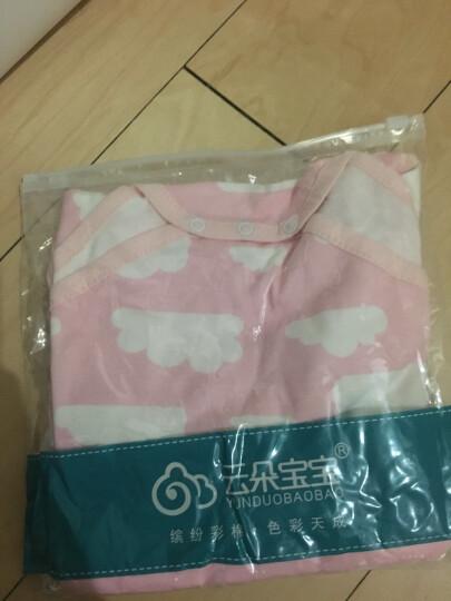 云朵宝宝(YUNDUOBAOBAO) 婴儿三角哈衣短袖夏季 纯棉新生儿包屁衣服薄款连体衣 粉色大云朵 66cm(3-6个月) 晒单图