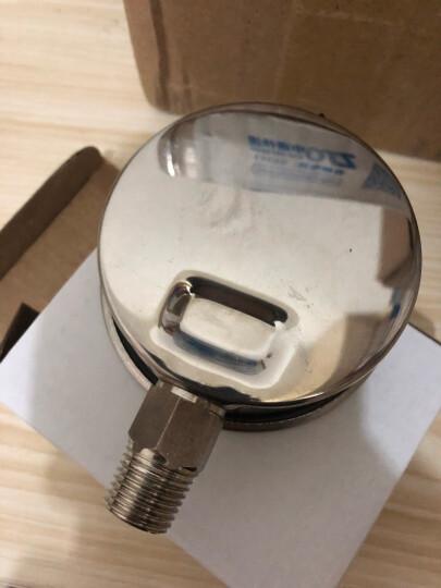 净水器水压测试表自来水压力表不锈钢材质水压表检测仪充油防震10公斤16公斤2分4分自来水压力测试仪表 10公斤2分口压力表(含4分测试配件) 晒单图