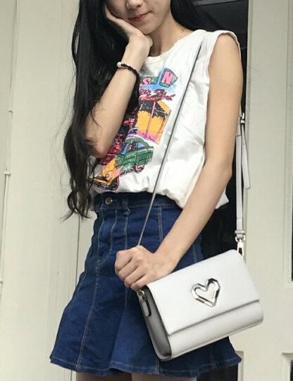 老人头(LAORENTOU)女士斜挎包女小包单肩包女2018新款欧美时尚牛皮女士包包 粉色 晒单图