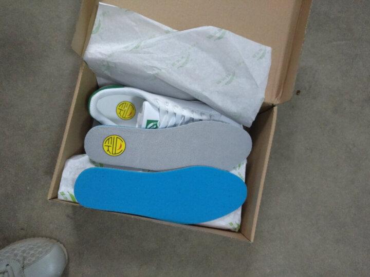 意尔康休闲运动女款板鞋 2018春季新款 低帮舒适滑板鞋情侣款小白鞋E7104301 白/金 35 晒单图