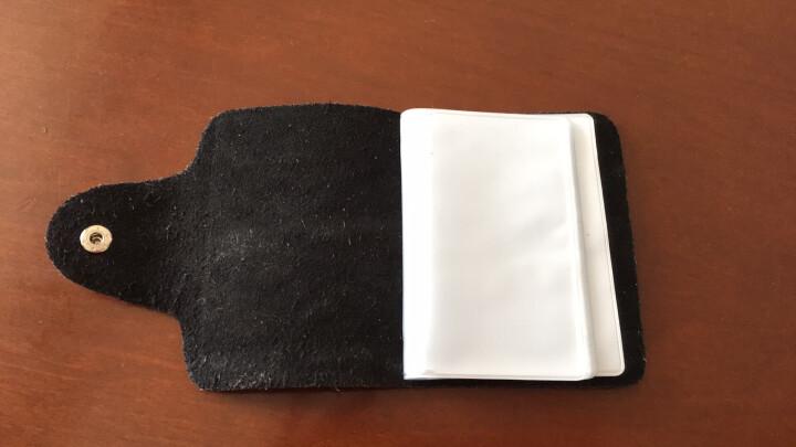 梓林ZILIN真皮卡包男女通用多卡位牛皮卡片包 随机色 随机色 大红 晒单图