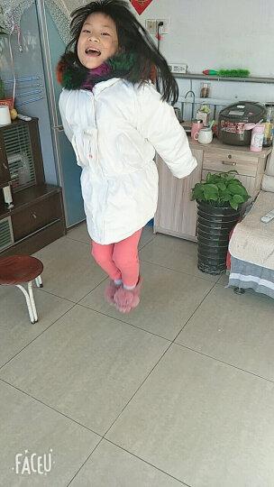 韩汇塬(HANHUIYUAN) 韩汇塬 儿童羽绒服女冬装新款加厚短款真毛领外套 图片白 130 晒单图