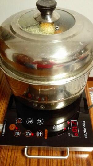 九阳(Joyoung)电磁炉 电陶炉 家用火锅炉 电池炉 无高频辐射 2200W 旋转控温 红外光波加热 H22-x3  赠烤盘 晒单图