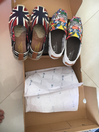 汤姆斯帆布鞋男士夏季透气休闲布鞋2019新款时尚涂鸦男鞋套脚平底学生鞋子TM631101M 白色 40 晒单图