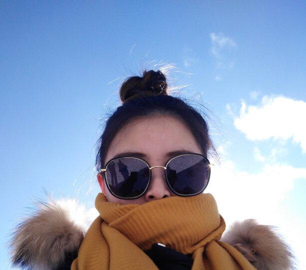威古氏(VEGOOS)太阳镜女款偏光驾驶镜司机女士复古墨镜防紫外线时尚大框太阳眼镜秒变女王 砂粉框女神紫 晒单图