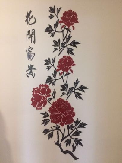 忆悦 中国风水晶3D立体墙贴镜面亚克力墙贴画墙贴纸自粘客厅餐厅卧室办公室装饰壁画贴画 红色 大160*67cm 晒单图