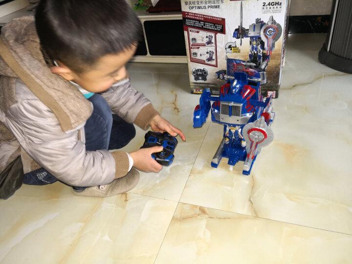 变形金刚 遥控机器人 可变身电动汽车人 变形金刚5可充电 动漫模型男孩玩具 升级款 一键变形大黄蜂【双电】超长一年保修 晒单图