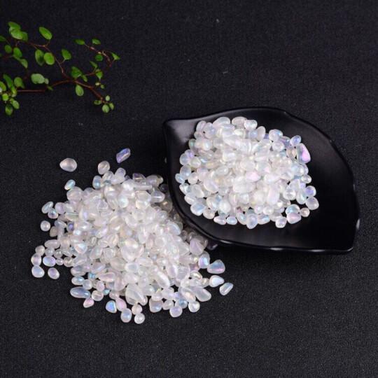 天然水晶消磁石手链净化消磁水晶佛教七宝白黄粉紫水晶碎石消磁碗 珊瑚碎石100克 晒单图