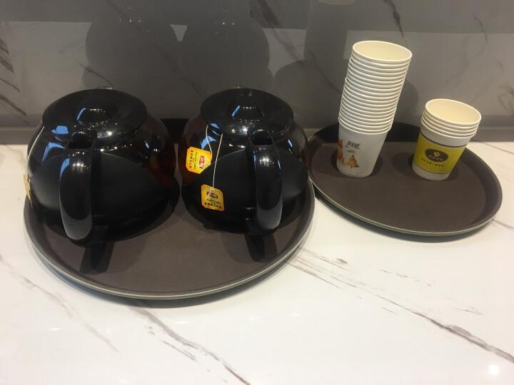 防滑托盘杯子托盘酒店饭店酒吧塑料传菜长方形托盘茶水盘 35.5cm圆形 晒单图
