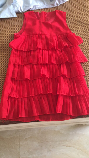 桔粒女童连衣裙2018新款3夏装4公主裙7儿童裙子9夏季10岁女孩 红色 140cm(偏小一码建议身高120-130cm) 晒单图