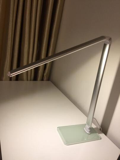 光富士 LED护眼台灯学生学习办公台灯儿童创意卧室床头灯 银色-调光调色 无极调光 晒单图