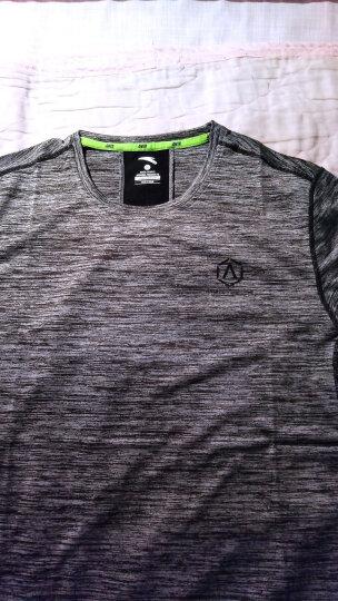 安踏短袖t恤男2020春夏新款舒适修身纯色简约跑步运动半袖T恤男潮 7140-6混沌蓝 M/男170 晒单图