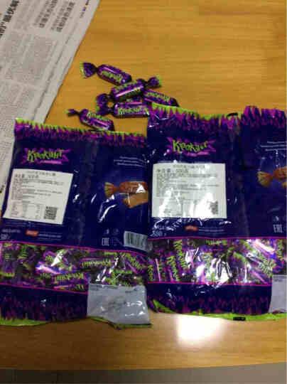 KDV紫皮糖俄罗斯进口巧克力糖扁桃仁糖士力架牛轧糖婚庆喜糖糖果酥进口紫皮糖拜年年货送礼 500g/袋 晒单图
