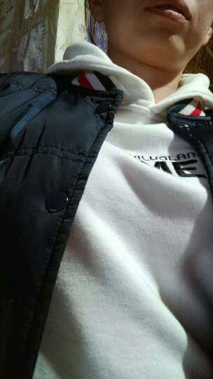 怡罗兰卫衣女连帽学生春季薄款宽松套头女士帽衫韩版潮春秋女生黑色上衣运动休闲短款外套带帽长袖 白色 L 晒单图