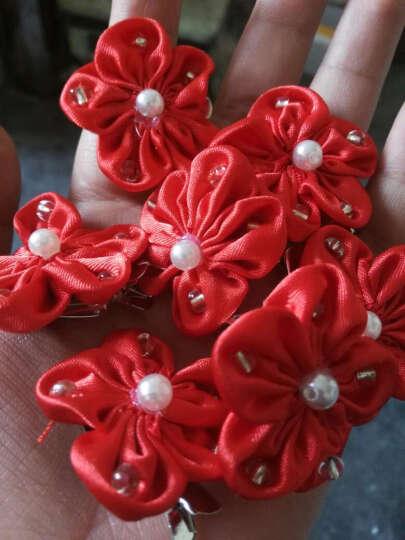 MSlover 雪含樱绽蕊 手工头饰复古花朵新娘发夹头饰结婚头花 HA131001 红色 头花(6只装) 晒单图