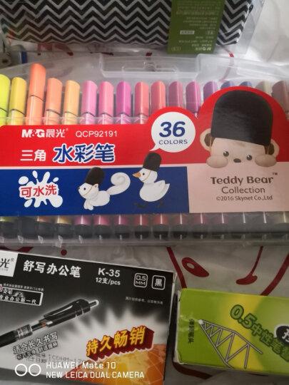 得力(deli)6色荧光笔醒目标记笔 水性记号笔 6支/盒33111 晒单图
