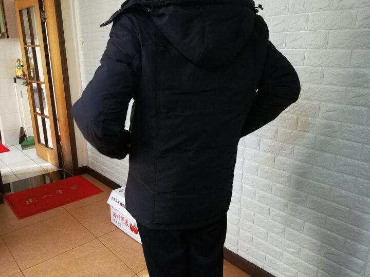 波司登男装羽绒服男中老年加厚中长款2017冬季新款可拆卸帽子羊毛领休闲大码羽绒外套男爸爸装 深藏青 190 晒单图