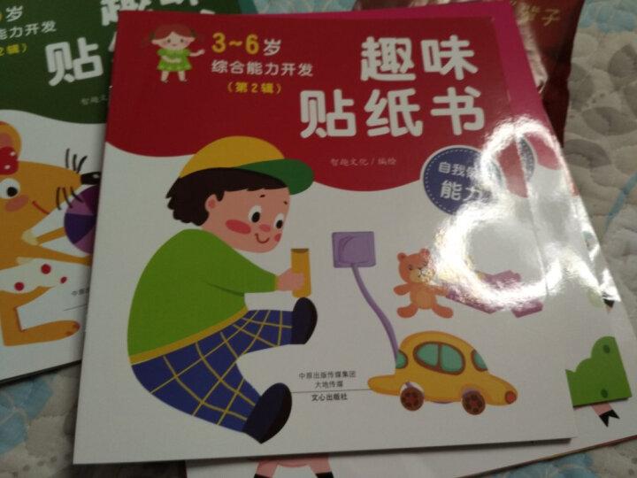 3-6岁综合能力开发趣味贴纸书:数学能力+记忆力+观察力+交往能力+自我保护能力+逻辑推理能力(套装共6册) 晒单图