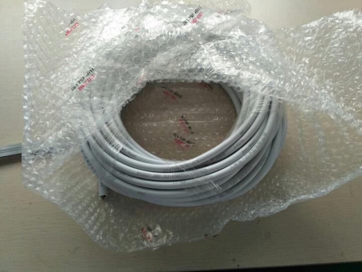 德力西 电线电缆三芯软护套线RVV3*2.5/1.5/0.5/0.75/1/4平方线单米 白色3*2.5 晒单图