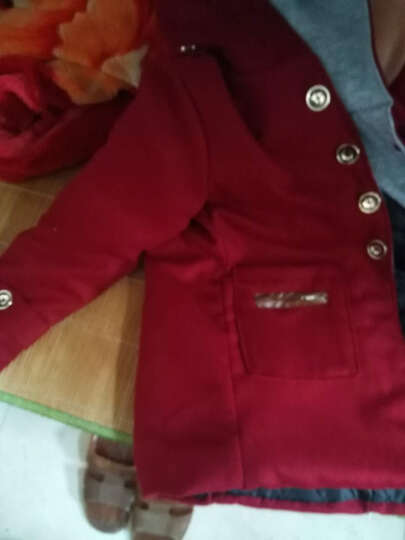 乔治少爷(GRADYBOY) 男童外套冬装秋冬男童呢子呢大衣儿童上衣中大童外衣男孩子外套 8026红色 140(适合身高135CM-140CM) 晒单图