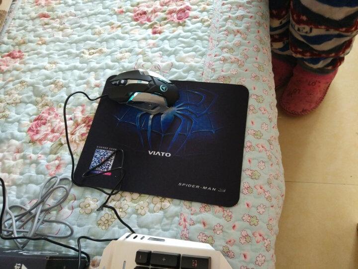 银雕(YINDIAO) 牧马人真机械手感键盘鼠标耳机三件套装电脑有线游戏吃鸡背光键鼠外设 黑色(彩虹背光)键盘+游戏鼠标+发光游戏耳机 晒单图