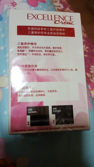 欧莱雅(LOREAL)卓韵霜护发染发剂#4.45(红铜棕色染发霜)(深棕色系 遮白不伤发染发膏) 晒单图