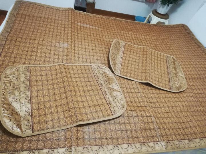 九洲鹿 凉席可折叠单双人床1.5/1.8米藤席子冰丝凉席竹席草席三件套空调席 海伦(密藤席) 1.5米床 晒单图