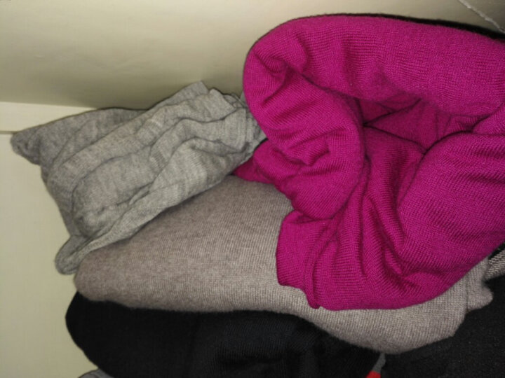 DKNY 唐娜·卡伦 女款紫红色棉质长袖休闲装M/L码 75990039H 695 晒单图