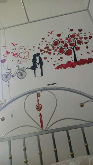 祺讯 壁纸纸卡通墙纸自粘壁纸墙纸卧室床头宿舍电视墙壁纸 爱心情侣墙贴 晒单图