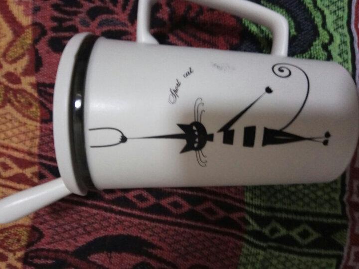 瓷魂 陶瓷带盖带勺子杯子简约咖啡杯大容量创意个性情侣水杯马克杯 猫国物语 sport cat套杯 晒单图