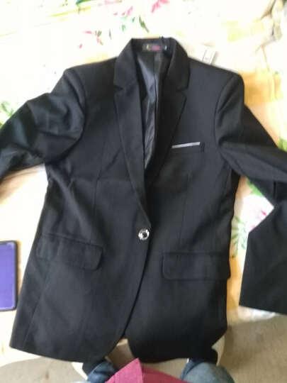 【wpkds】西服男 2018春季装新款男士套装休闲小西装男修身单西便服外套 黑色(单上衣) XL(适合120-135斤) 晒单图
