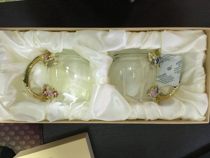 罗比罗丹花样年华创意水杯情侣对杯珐琅彩工艺品玻璃杯子欧式咖啡杯器皿礼盒装生日结婚礼物 小号对杯 晒单图