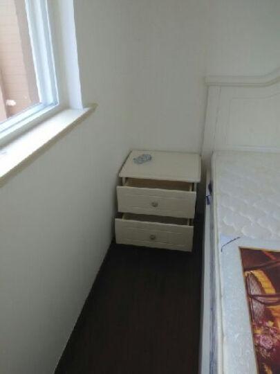 双虎(SUNHOO) 田园床家具套装成套板式家具卧室双人大床套餐组合13M1 1.8米床+床头柜*2+13M1四门衣柜+舒梦床垫 晒单图