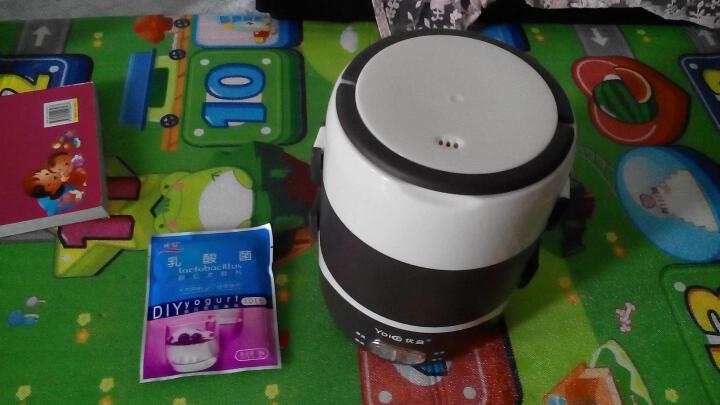 Yoice/优益 电热饭盒三层插电加热饭盒热饭器蒸饭盒 Y-DFH5 咖啡色 晒单图