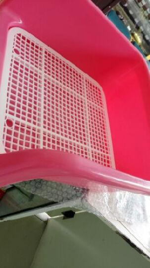 PETCIRCLE 狗狗厕所泰迪比熊小型犬铺垫式便盆塑料可拆洗 买大号送消毒液和尿片 粉色(普通款无立柱) 晒单图
