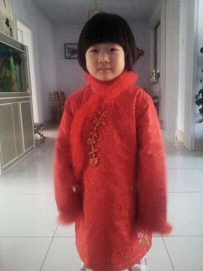 布布发现(JOY DISCOVERY) 布布发现2016童装女童中国风夹棉加厚款长袖旗袍 红色 120 晒单图