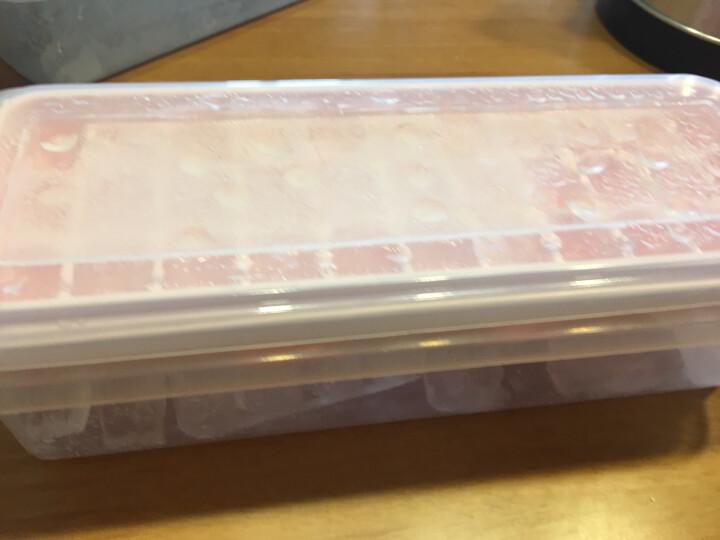奥美优 家用创意冰格套装冰糕冰块模具 冰箱制冰盒DIY制冰器  33格带储冰盒冰铲 粉色 AMY5051 晒单图
