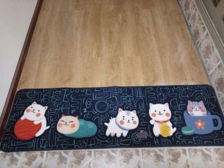 惠多 卡通猫咪厨房长条地垫 防滑垫卫浴吸水日式垫子床边垫 飘窗地垫脚垫 粉色贴纸 45*180CM 晒单图