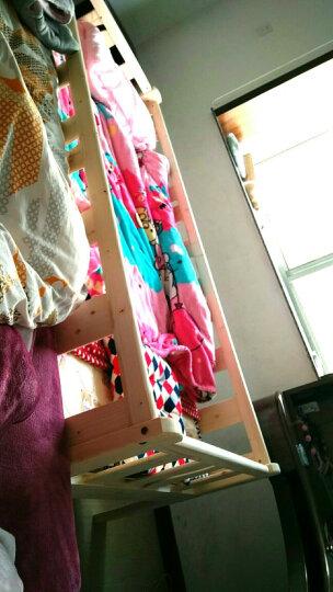 琪翔(qixiang) 琪翔松木儿童床带护栏幼儿床青少年实木床可与大床拼接无油漆原木色 尾梯床+床垫+床围 168*88*40 晒单图