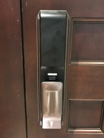 SAMSUNG 三星指纹锁P728 三星shp-dp728防盗门家用智能电子指纹密码门锁智能门锁 红古铜(标配版) 晒单图