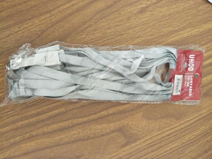 优和(UHOO)可定制证件卡套工作牌挂绳 胸牌工牌挂绳 灰白12根/包 6712 晒单图
