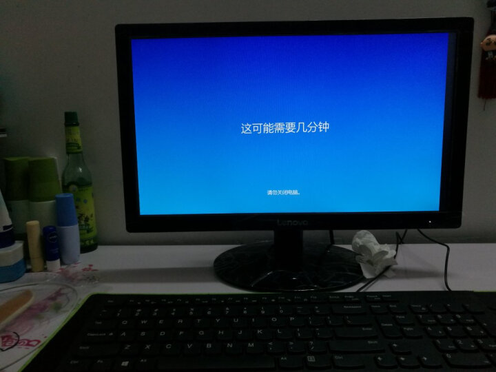 联想(Lenovo)天逸510S商用台式办公电脑整机(i3-7100 4G 128G SSD 集显 WiFi  三年上门)21.5英寸窄边框 晒单图