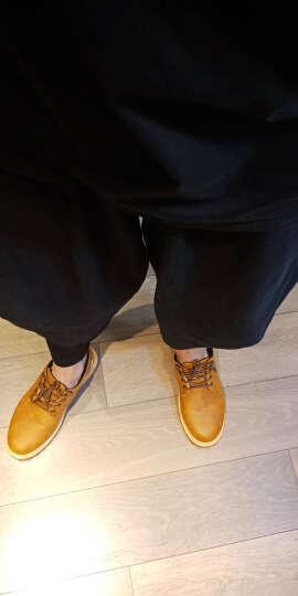 列戈男鞋秋冬新款休闲鞋低帮加绒保暖棉鞋男士大头鞋复古增高工装鞋 黄色 41 晒单图