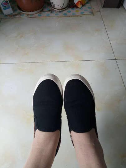 八幡(BAFAN)帆布鞋女韩版春秋款学生厚底松糕底一脚蹬套脚懒人鞋 黑色 37 晒单图