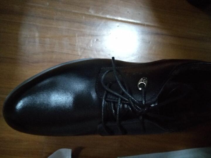 瓦尔希 正装皮鞋男士皮鞋商务皮鞋时尚潮流系带休闲鞋子大码英伦男鞋1805 1805黑色 41 晒单图