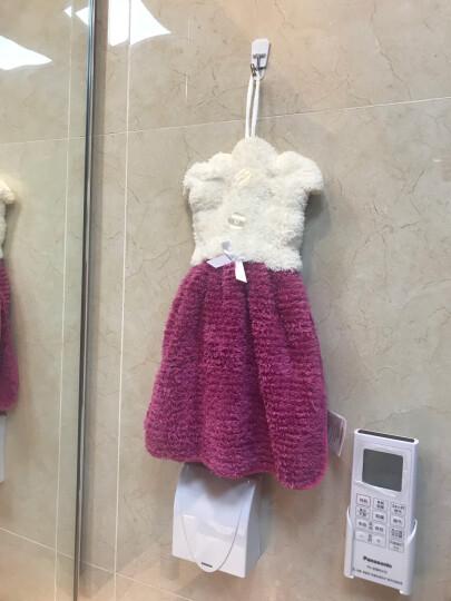 多样屋TAYOHYA挂式擦手吸水快干厨房浴室居家多用裙式雪绒擦手巾 宝石红 晒单图