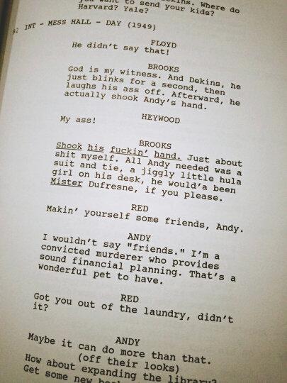 The Shawshank Redemption:the Shooting Script (Newmarket Shooting Script)[肖申克的救赎(电影剧本)] 英文原版 晒单图